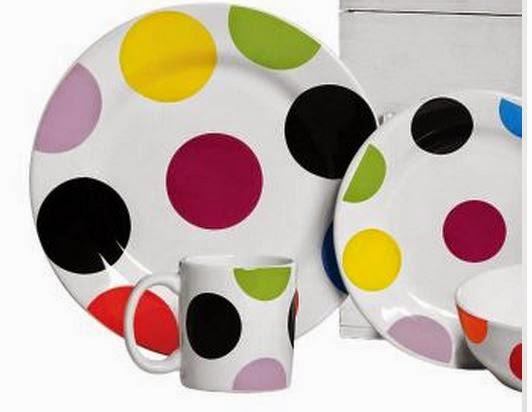 Jogo de Jantar Bolas Porcelana da Scalla cerâmica com 16 peças