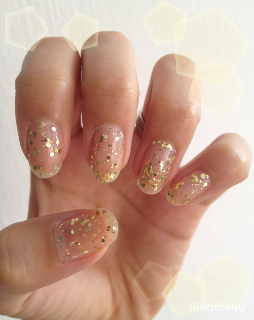 SFC Design: Nail Art: Gold Leaf Glitter