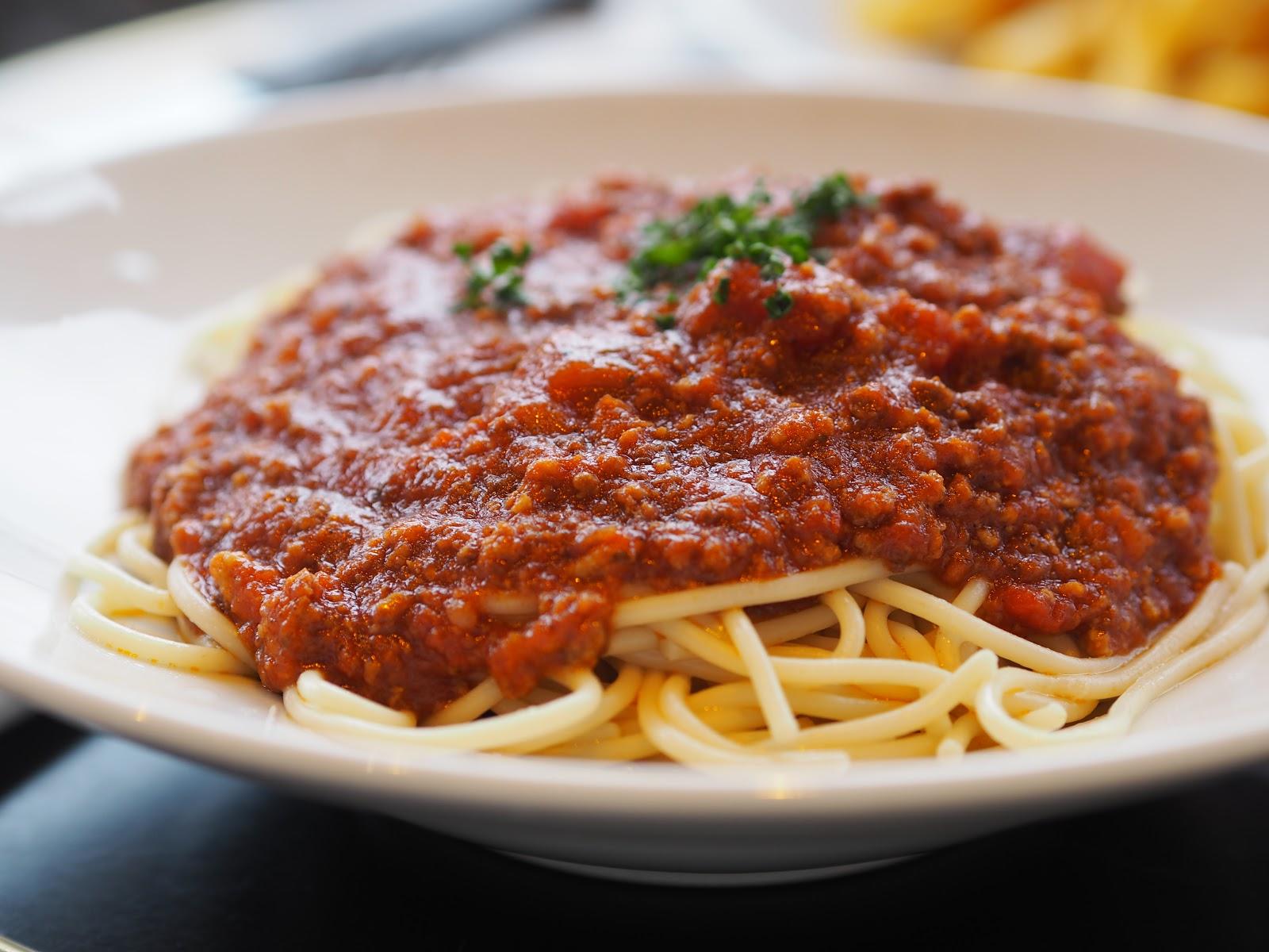 Plate of Spaghetti Bolognaise