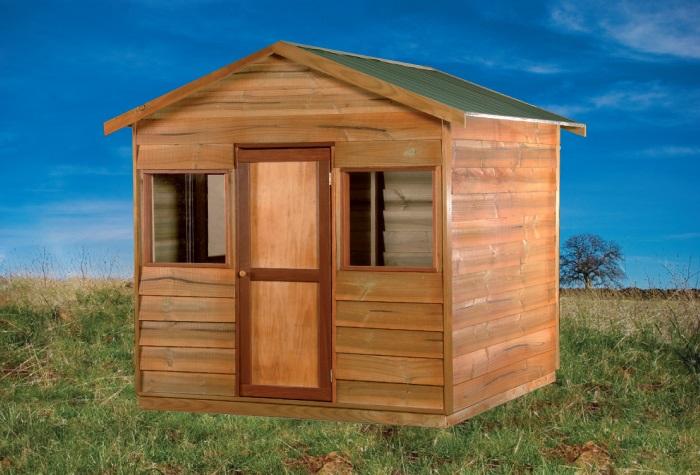 Cartoon Wooden Shack A wooden shed, a diy job,