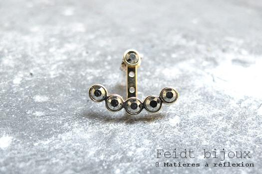 Boucle Feidt bijoux or jaune