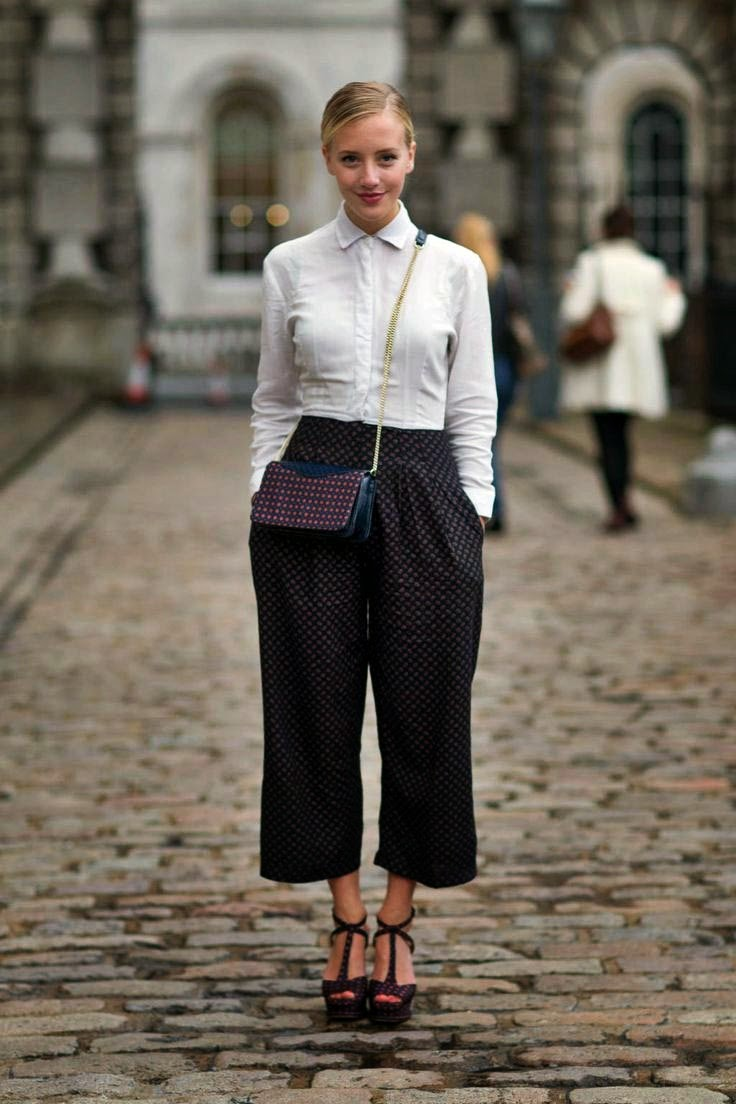 Eniwhere Fashion - Culottes - Camicia bianca - Trend FW 2014-15
