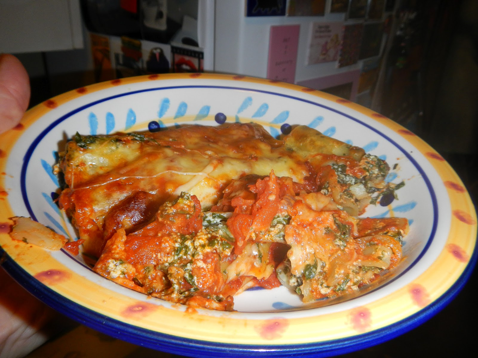 vegerama: Spinach and ricotta cannelloni