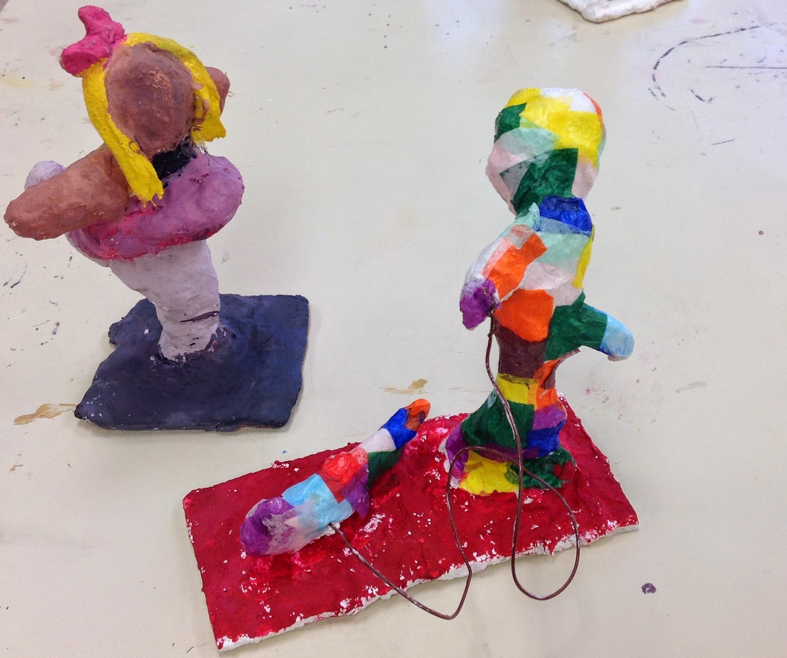 Fourth Grade Plaster Gestural Sculpture Art Lesson