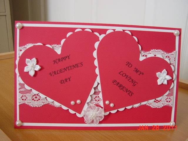 Nitas world handmade happy valentines day another valentines day card late posting i made for a girl friend to give to her parents i used spellbinders hearts and white lace white pearls and m4hsunfo