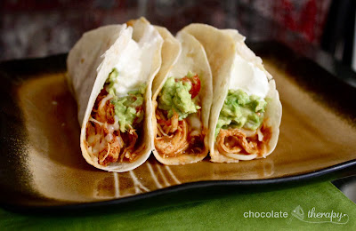 3-Ingredient Crockpot Chicken Tacos