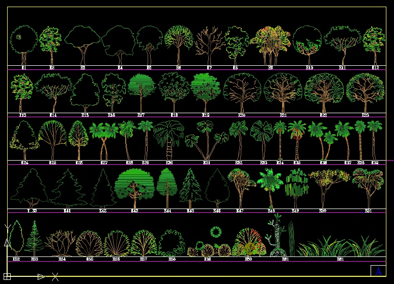 autocad free blocks trees