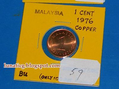 1 sen copper 1976