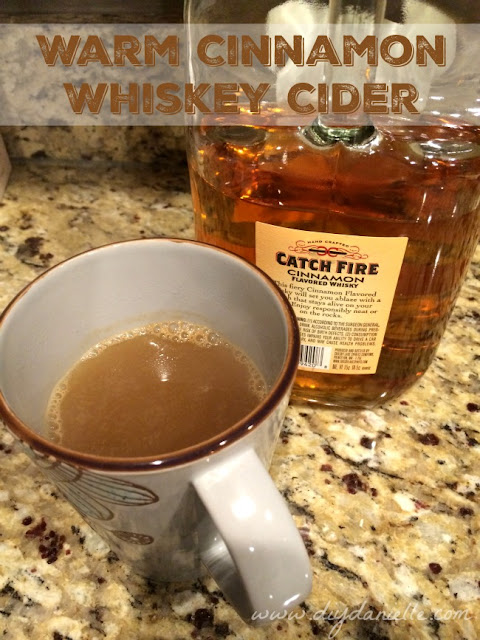 Warm Cinnamon Whiskey Cider