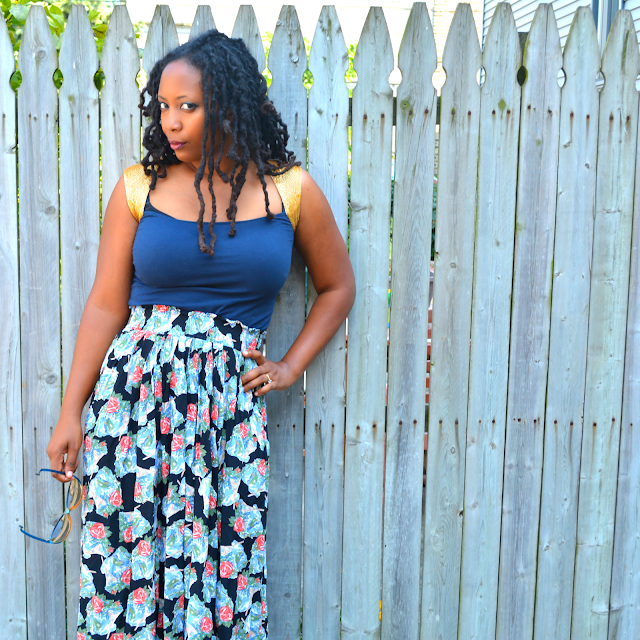 thrift style blogger wears culottes