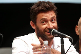 Hugh Jackman give a speach to people wallpapers
