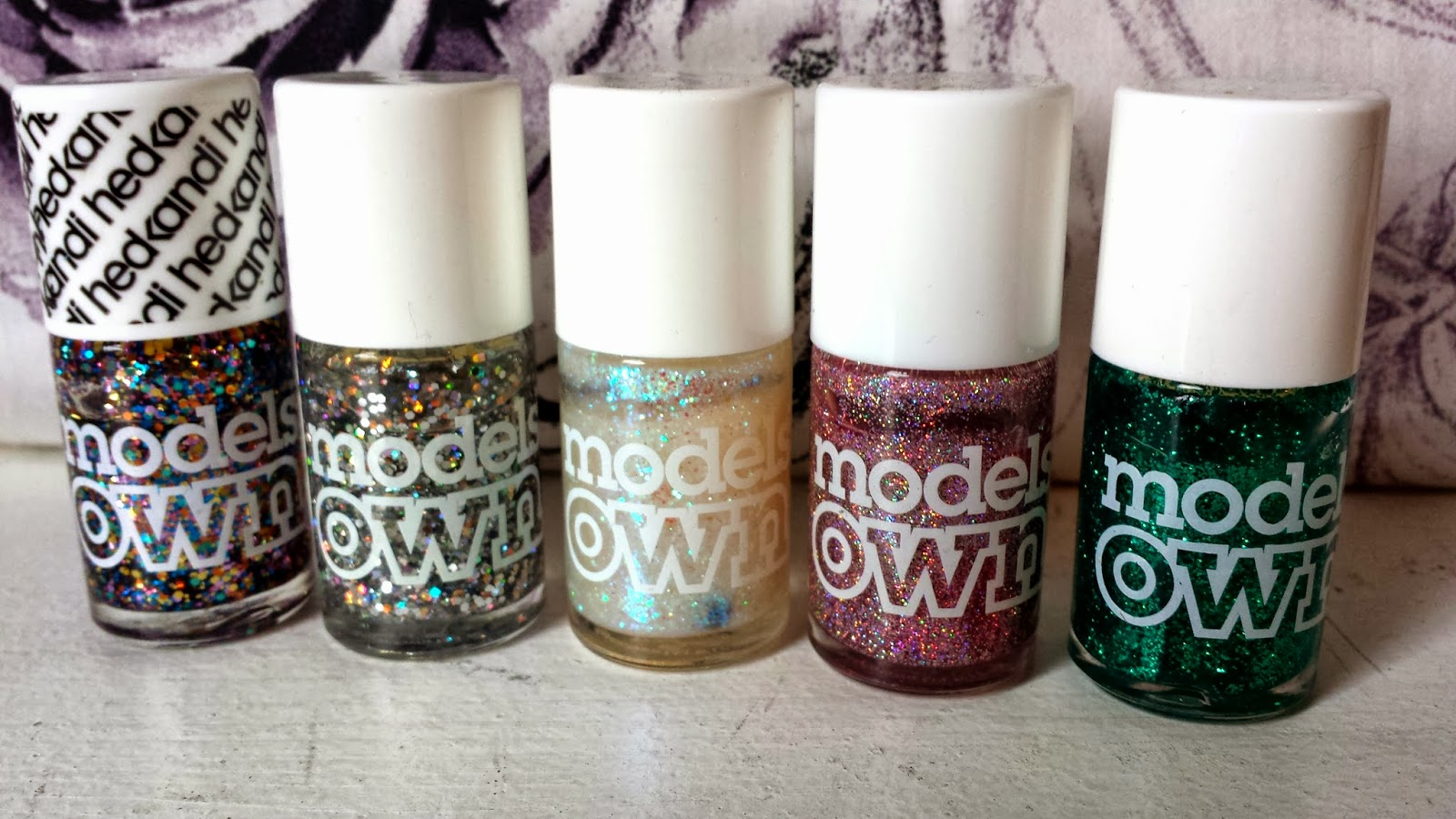 Nails: Top 5 Models Own Glitter Polishes | Mini Adventures