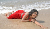 MAMATHA, MOHANDAS, SHOWING, ALL, WET, BODY