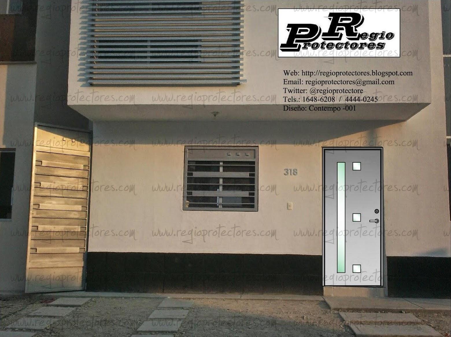 Regio protectores dise o de puerta principal de hierro for Diseno puerta principal