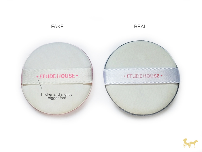fake etude house cushion makeup puff