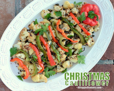 Christmas Cauliflower, Best Recipes for Everyday 2015 ♥ AVeggieVenture.com.
