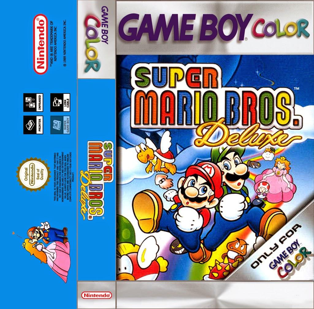 Game boy color super mario bros deluxe - Super Mario Bros Deluxe Game Boy Color Cassette Cover