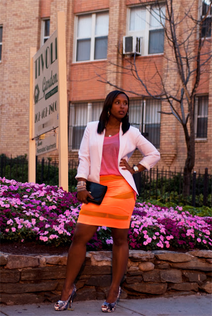 orange skirt1 - Orange You Jealous? I'm rockin a Brittany DeShields Original