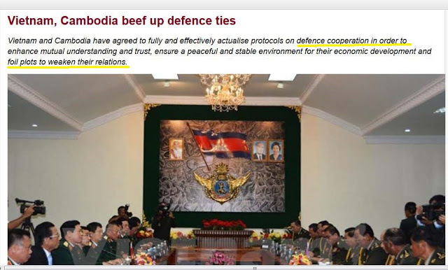 "Vietnam, Cambodia ""defence to...foil plots to weaken their relations"""