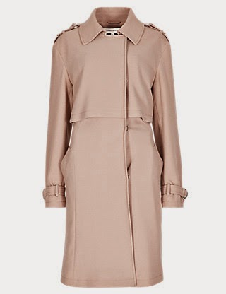 M&S Limited Edition Collared Neck Belted Mac