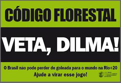 protesto contra o novo Código Florestal no Dia da Terra