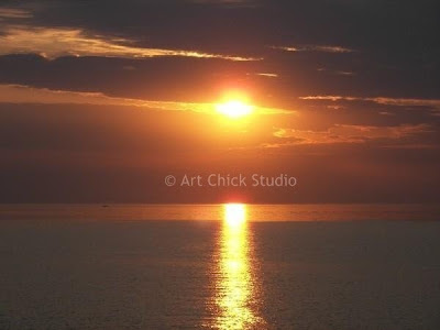 Saugatuck Sunset photograph