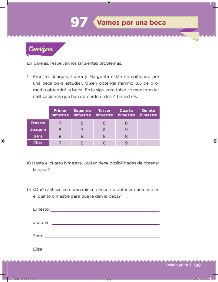 Vamos por una beca - Desafíos matemáticos Bloque 5 2014-2015
