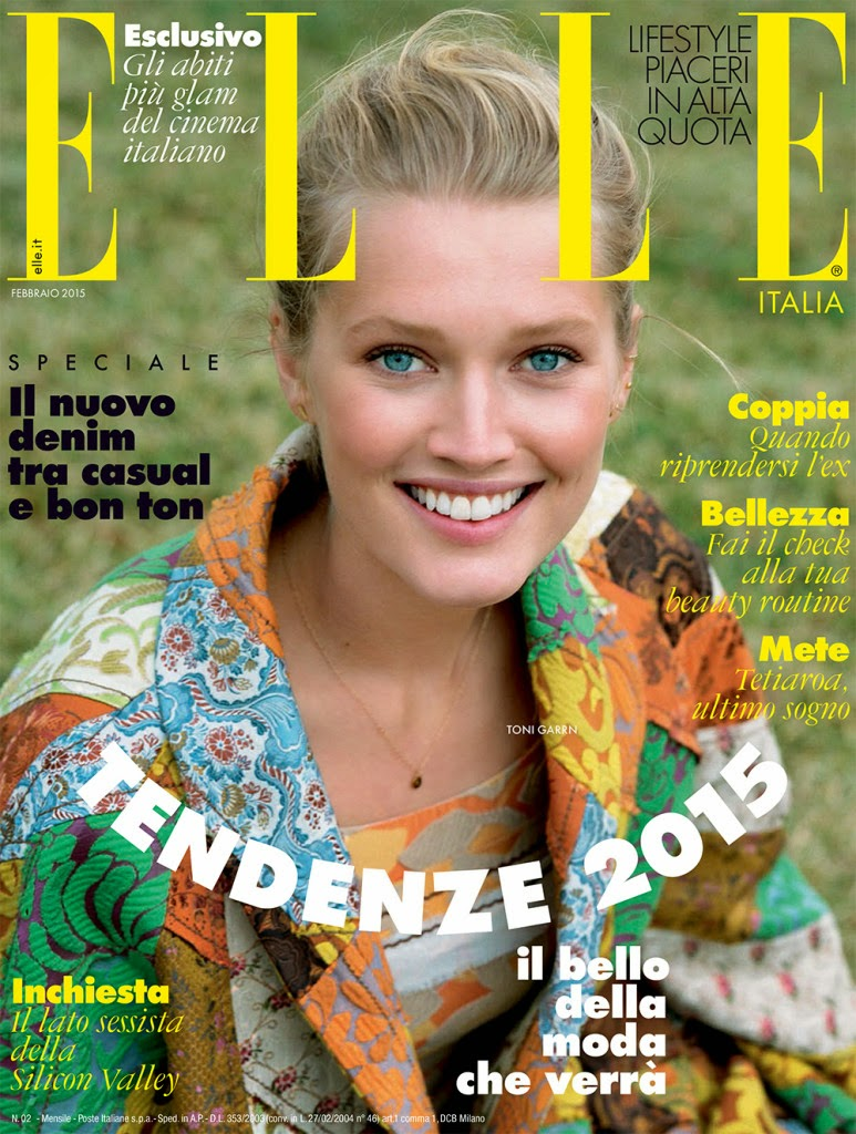 Toni Garrn by Matt Jones for Elle, Italia, February 2015