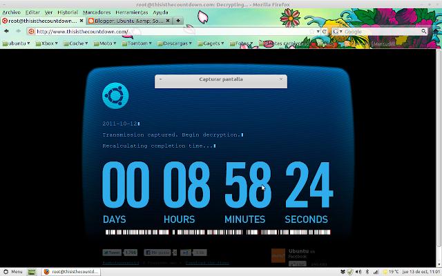 Cuenta atrás Ubuntu 11.10 Oneiric Ocelot