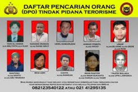 10 DPO pelaku teroris buronan polisi