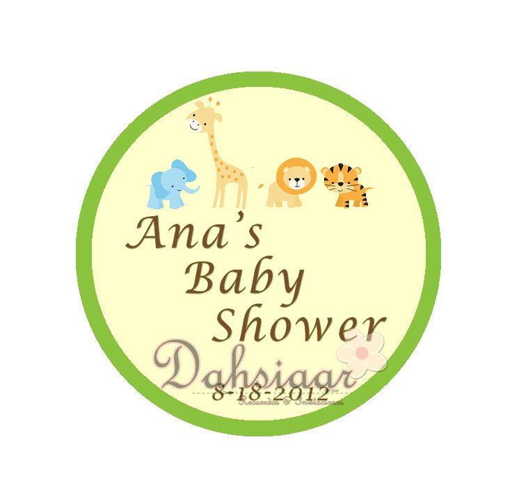 dahsiaar baby shower jungle animals