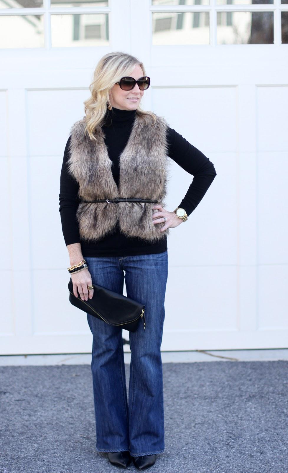 Fur vest, Prada, Paige Denium, Urban Expressions