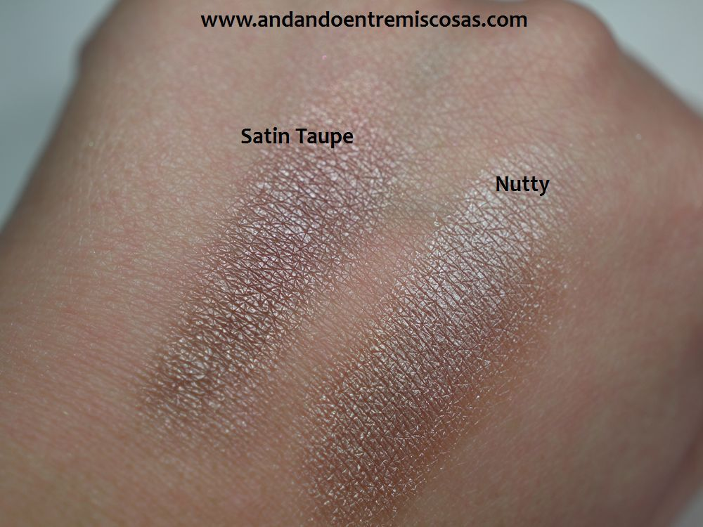 Sombras Satin Taupe y Nutty
