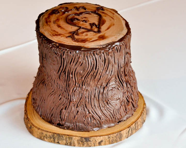Beki Cook\'s Cake Blog: Tree Trunk or Tree Stump Cake