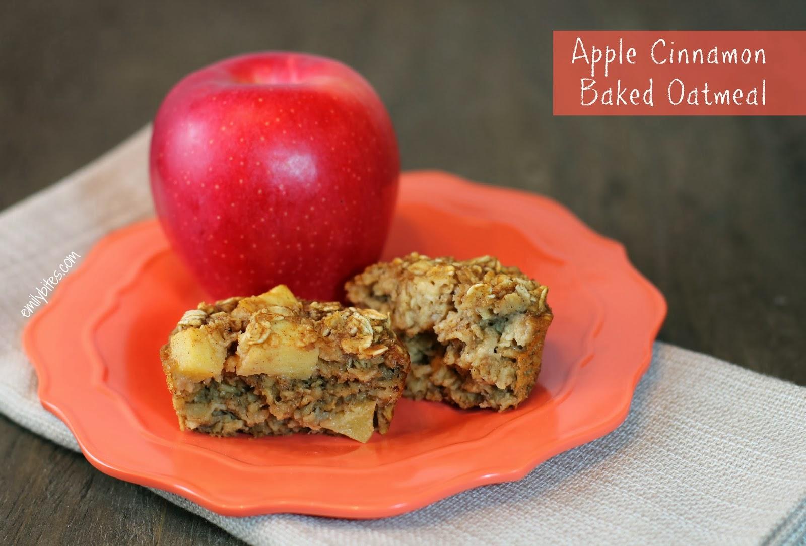Apple Cinnamon Baked Oatmeal Singles - Emily Bites