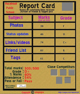 my report card facebook app