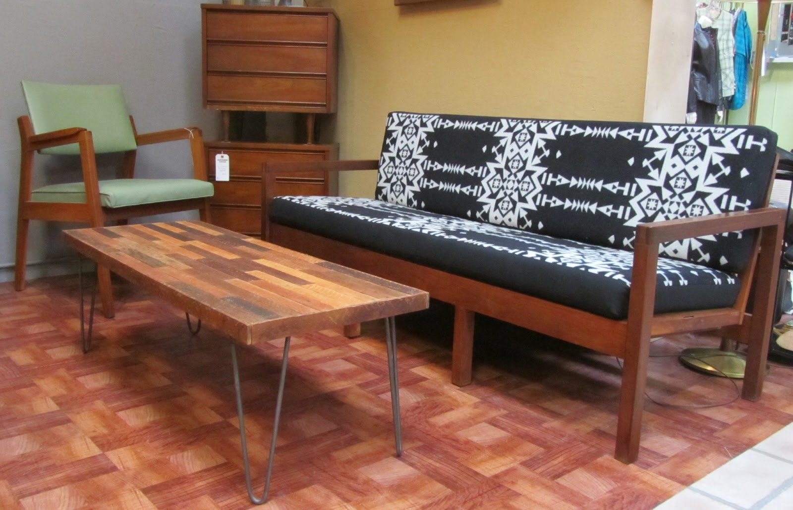Mid century modern furniture portland or elegant interior Reclaimed wood furniture portland oregon
