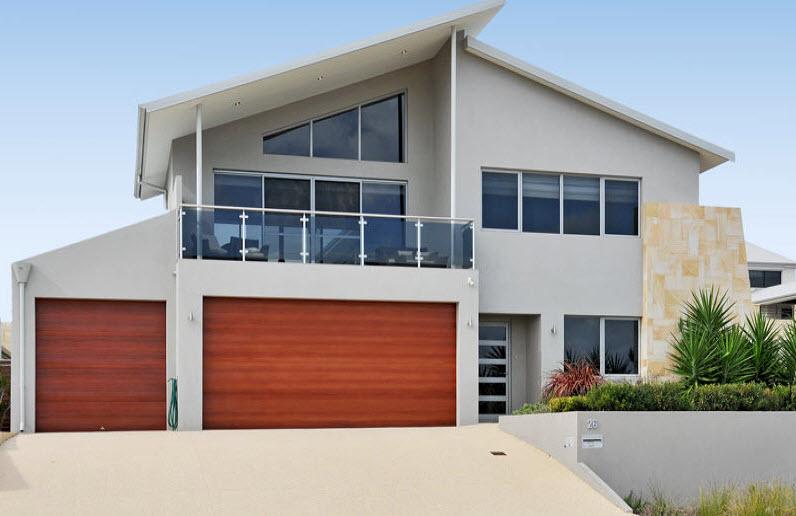 Dise o y planos de casas de dos pisos con ideas para for Diseno escaleras para segundo piso
