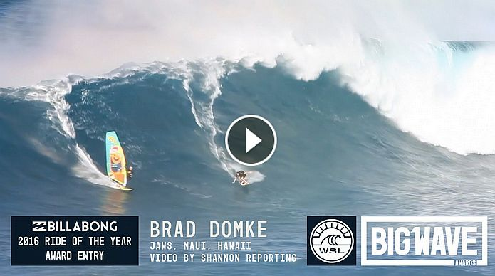 Brad Domke at Jaws - 2016 Billabong Ride of the Year Entry - WSL Big Wave Awards