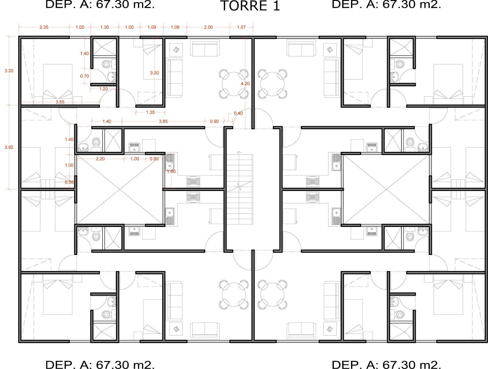 Conceptos lean aplicados al dise o de la vivienda for Planos de viviendas de un piso