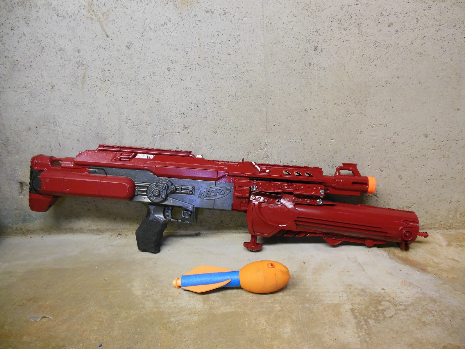 how to make a nerf grenade launcher