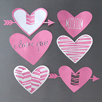 Valentine's Day Heart Magnets Free Cut Files