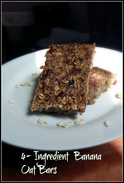 Ingredient Banana Oat Bars | Kitchen Samraj!
