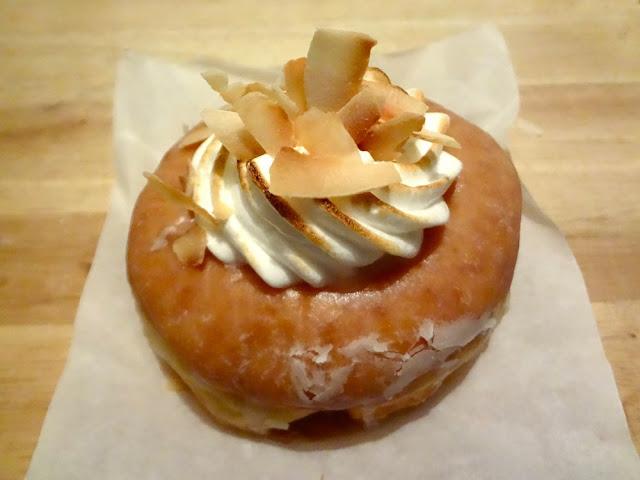 coconut cream doughnut