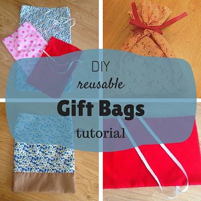DIY reusable gift bags tutorial