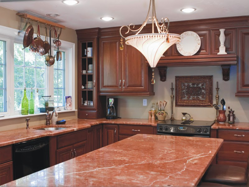 Foundation Dezin & Decor Different color marble counter tops
