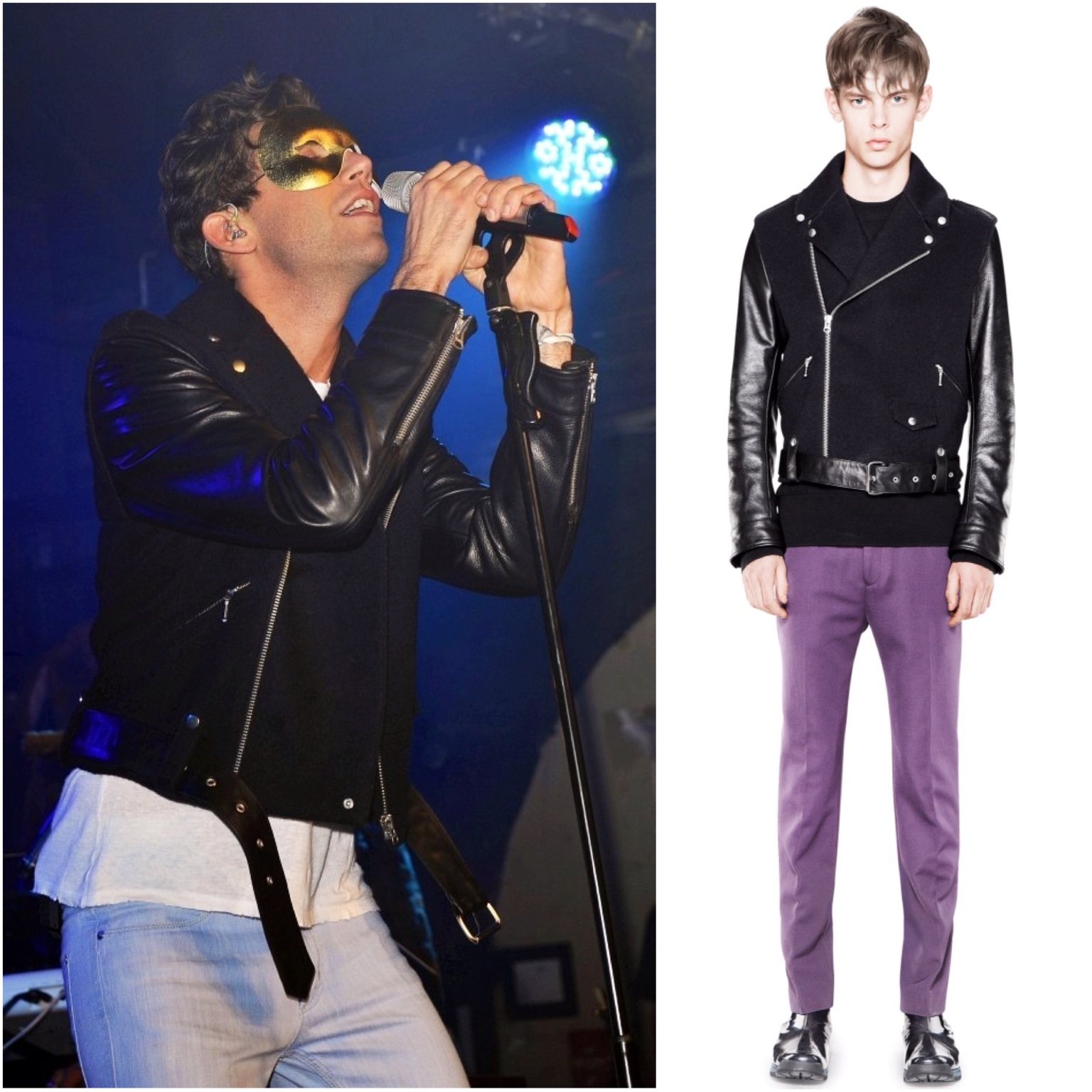 00O00 London Menswear Blog Mika at GAY London Acne leather jacket