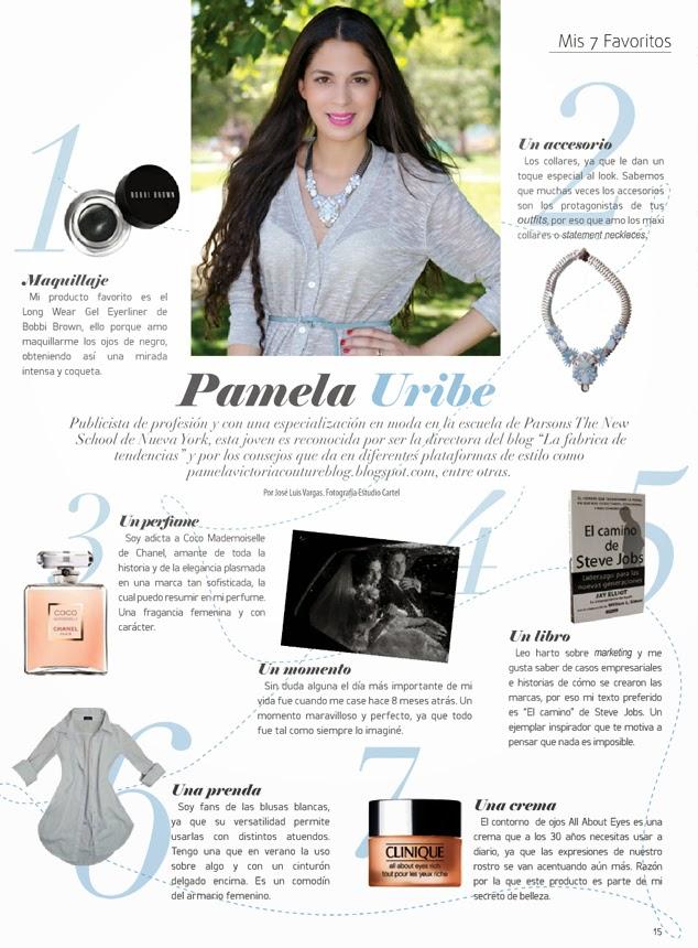 PAMELA VICTORIA - PAMELA URIBE - REVISTA VELVET - PRENSA