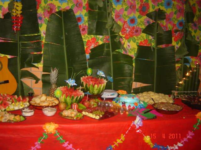 Festas Temáticas Festa Havaiana Tropical Decoração