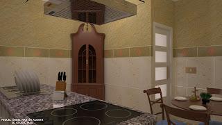 Vista de la cocina mirando hacia la puerta